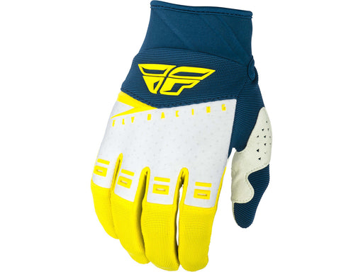 FLY RACING 2019 F-16 GLOVES-Yellow/White/Navy