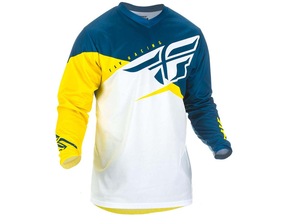 FLY RACING 2019 F-16 JERSEY-Yellow/White/Navy
