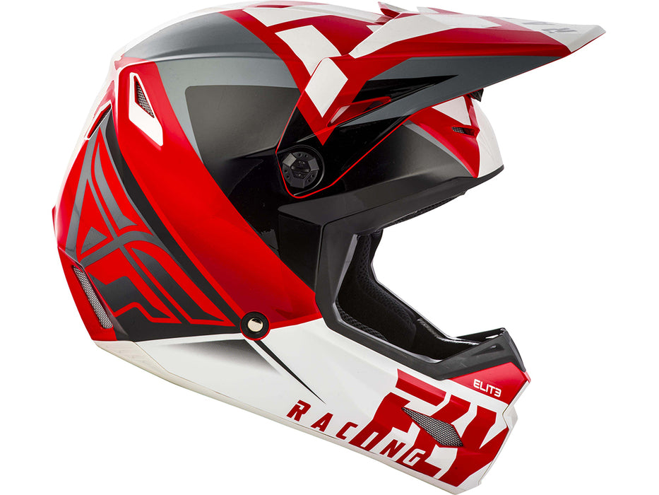 FLY RACING 2019 Elite Vigilant Helmet-Red/Back