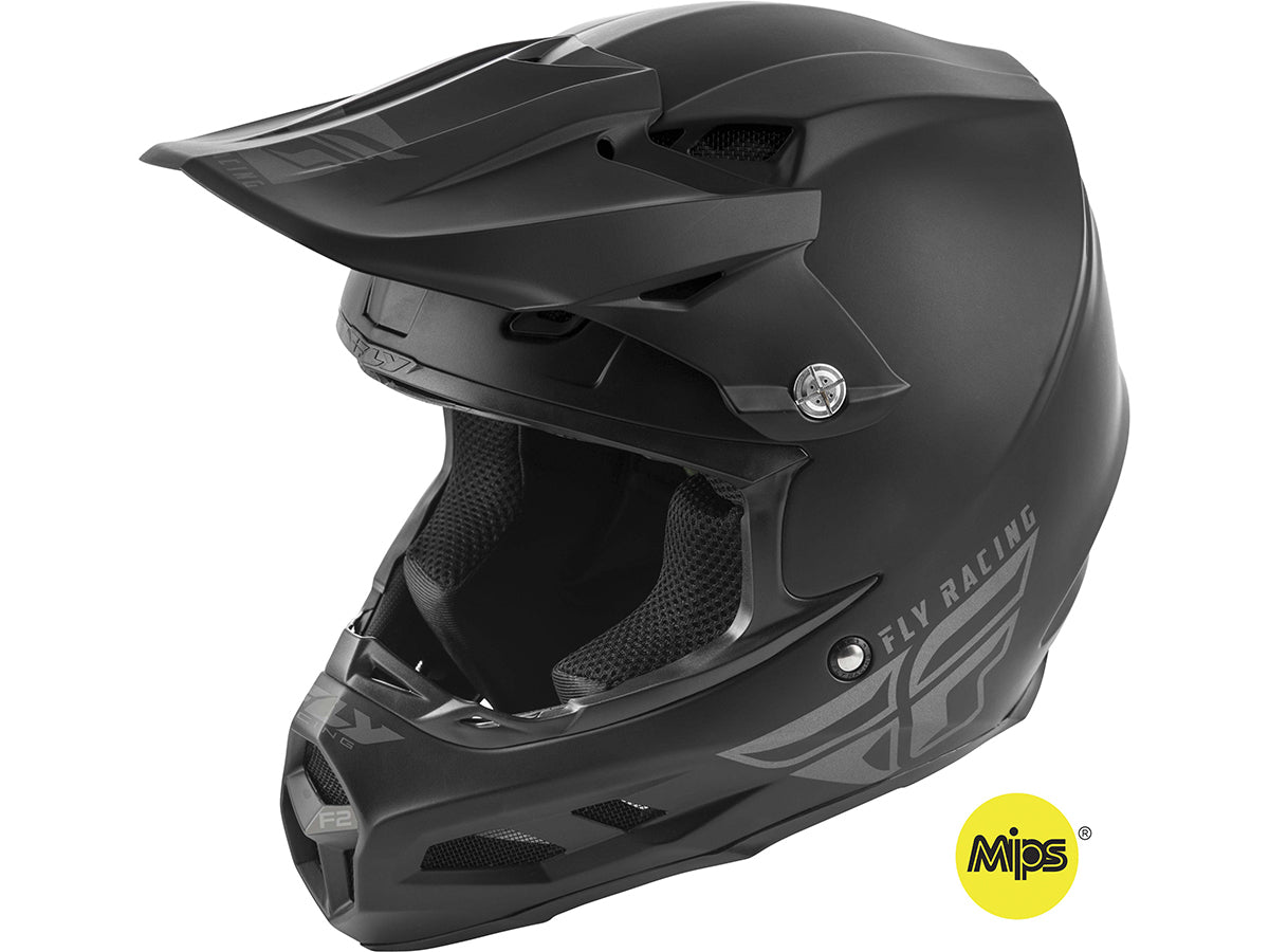 FLY RACING 2019 F2 Carbon MIPS Helmet-Solid Black