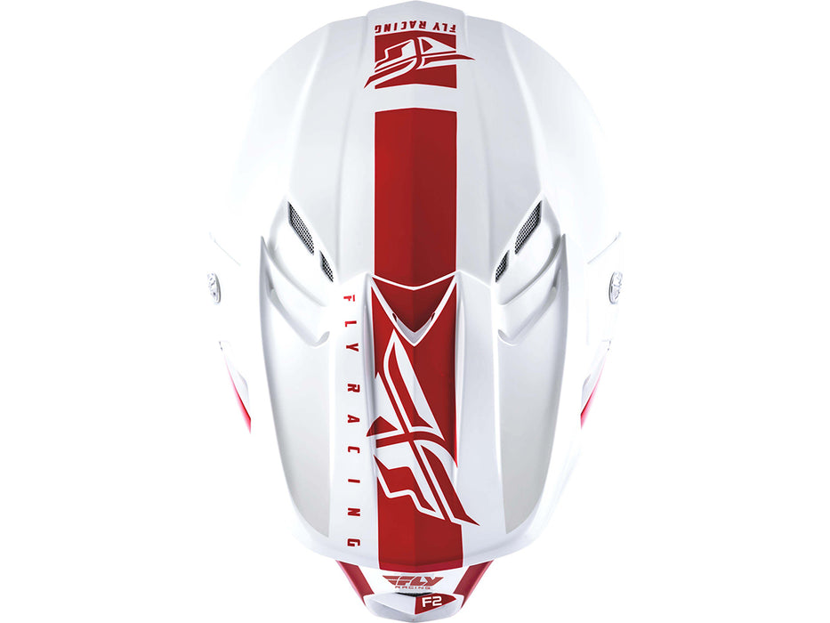 FLY RACING 2019 F2 Carbon MIPS Sheild Helmet-White/Red