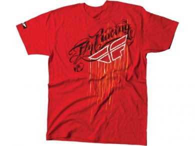 FLY Script Drip T-Shirt | RED
