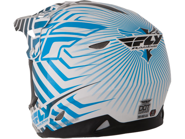 FLY Racing 2013/2014 Three.4 Helmet | WHITE/BLUE