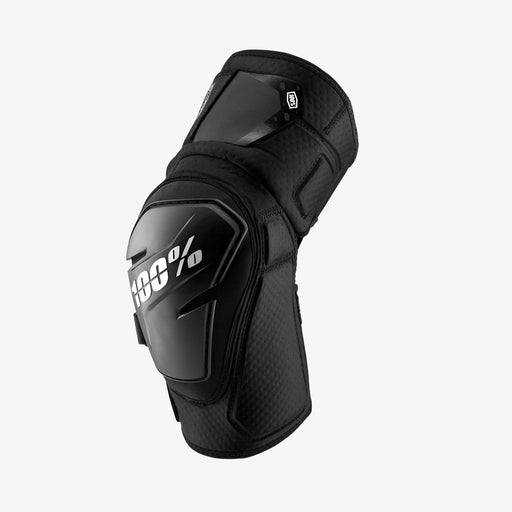 100% Fortis Knee Guard-Black  - J&R Bicycles BMX Super Store