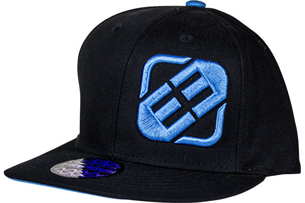Freegun Men's Hat-Black w/Blue Logo