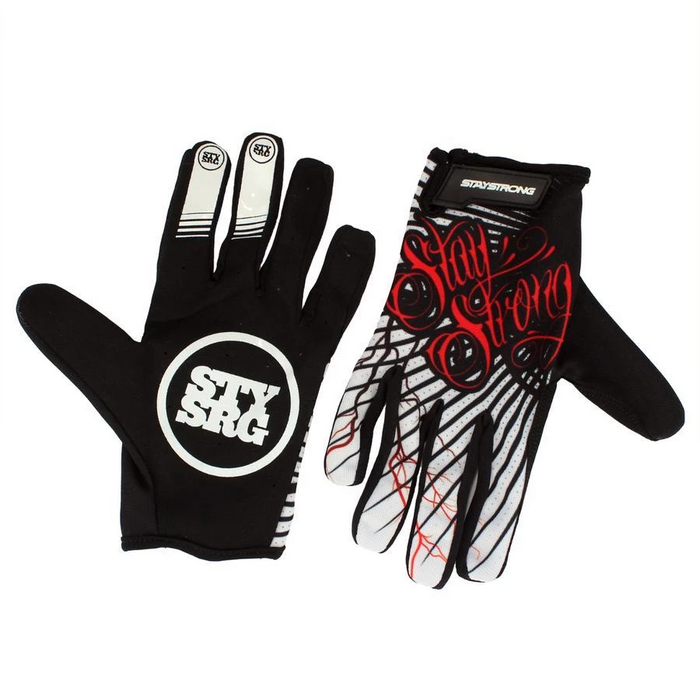 Stay Strong For Life Gloves-Black