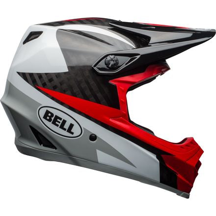 Bell Full-9 Helmet - Gloss White/ Black/ Hibiscus