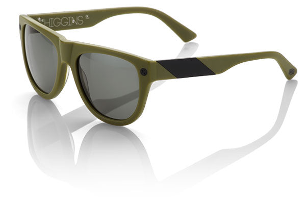 100% Higgins Sunglasses-Matte Olive/Brushed Black-Gray Lens  - J&R Bicycles BMX Super Store