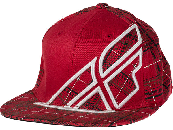 FLY Racing Plaid F-Wing Hat | RED