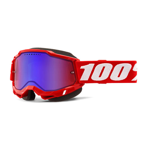 100% Accuri2 Goggles-Red-Mirror Red/Blue Lens