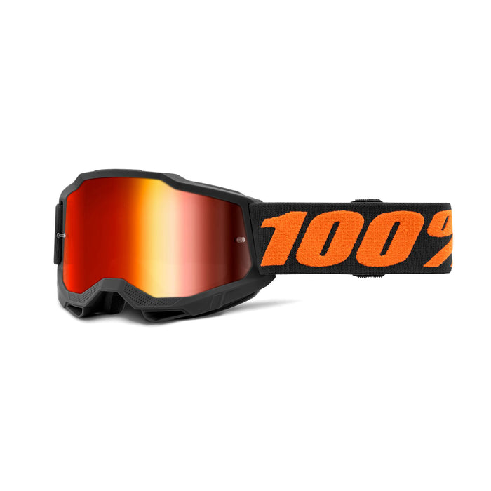 100% Accuri2 Youth Goggles-Chicago-Mirror Red Lens