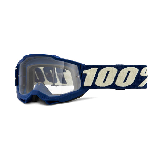 100% Accuri2 Youth Goggles-Deepmarine-Clear Lens