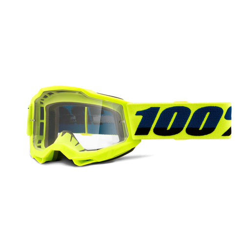 100% Accuri2 Youth Goggles-Fluorescent Yellow-Clear Lens