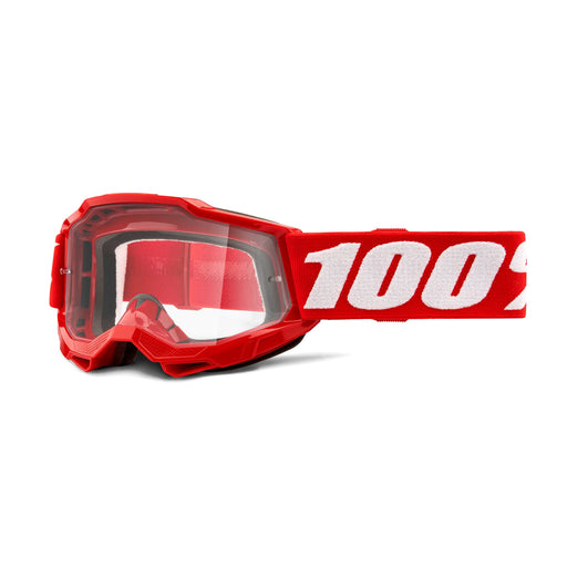 100% Accuri2 Youth Goggles-Red-Clear Lens