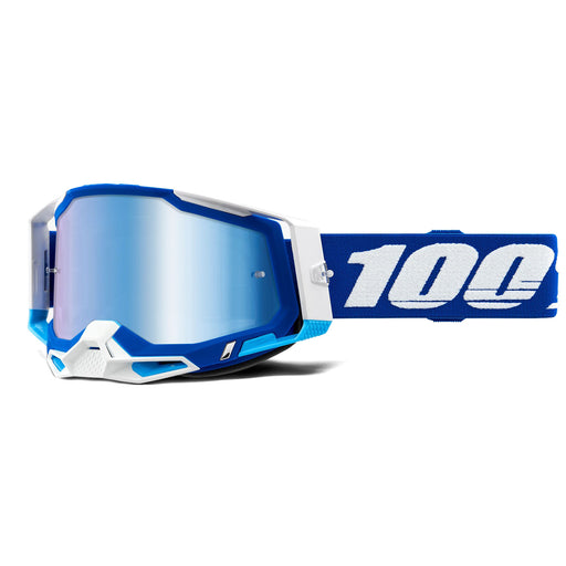 100% Racecraft2 Goggles-Blue-Mirror Blue Lens
