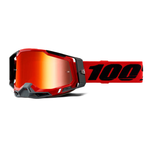 100% Racecraft2 Goggles-Red-Mirror Red Lens