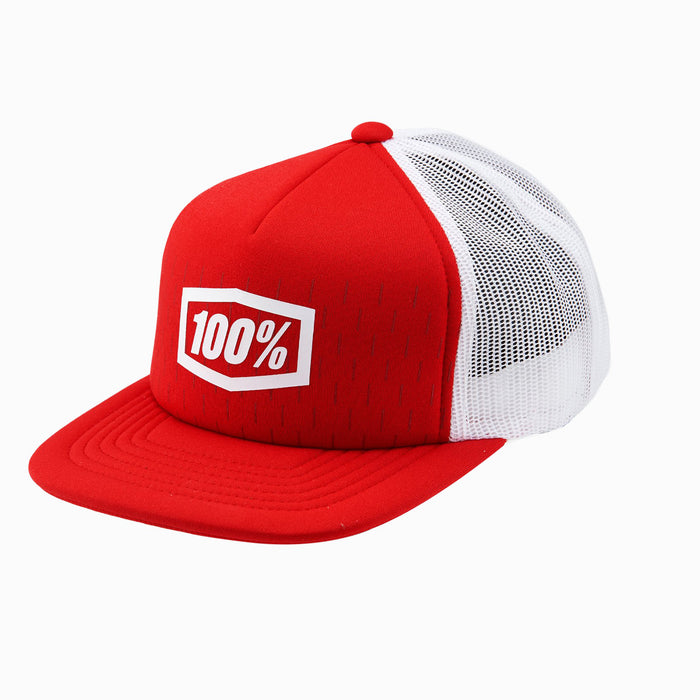 100% Shift Trucker Hat-Red