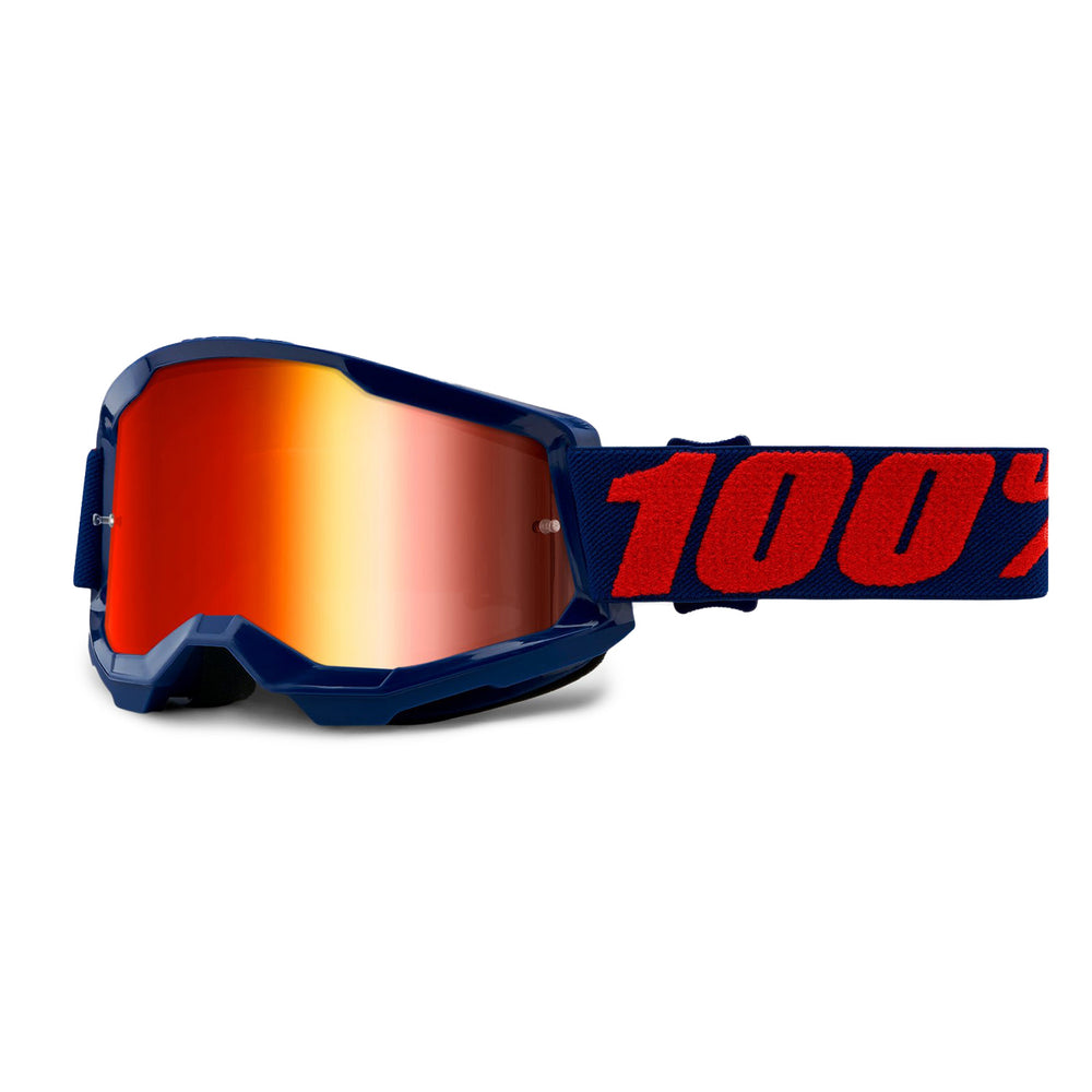 100% Strata2 Goggles-Masego-Mirror Red Lens
