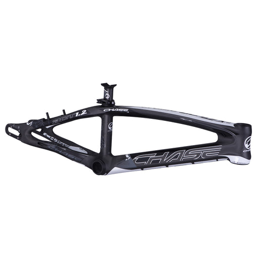 Chase ACT 1.2 Carbon BMX Race Frame-Black/White