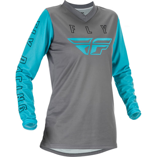 Fly Racing F-16 Women's BMX Race Jersey-Grey/Blue