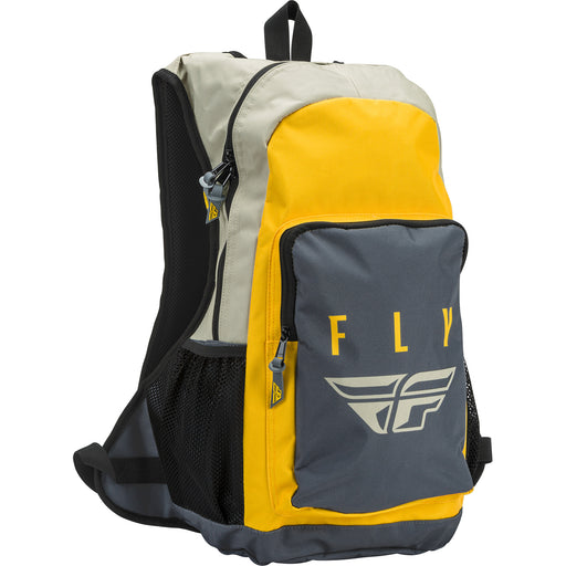 Fly Racing Jump Pack Backpack-Stone/Mustard