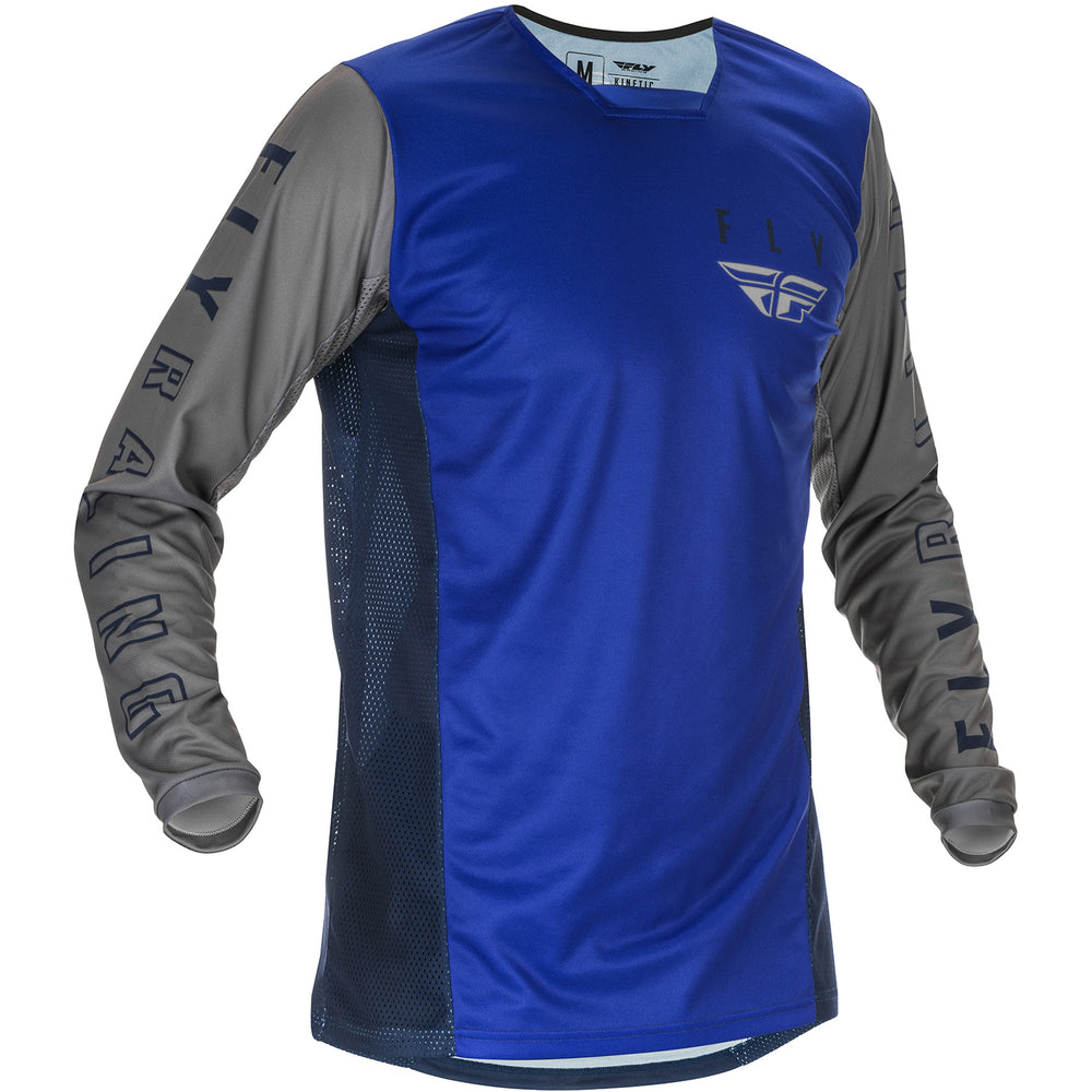 Fly Racing K121 BMX Race Jersey-Blue/Navy/Grey