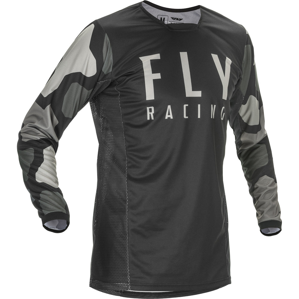 Fly Racing K221 BMX Race Jersey-Black/Grey