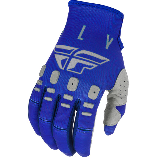 Fly Racing K121 BMX Race Gloves-Blue/Navy/Grey