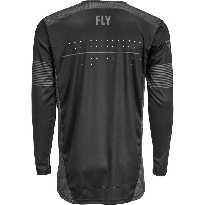 Fly Racing Lite BMX Race Jersey-Black/Grey