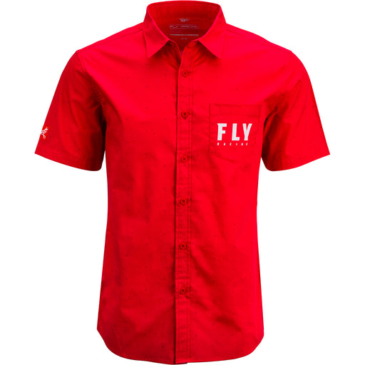 Fly Racing Pit Shirt-Red