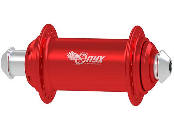 Onyx Solid Shell Front Hub-20mm Red