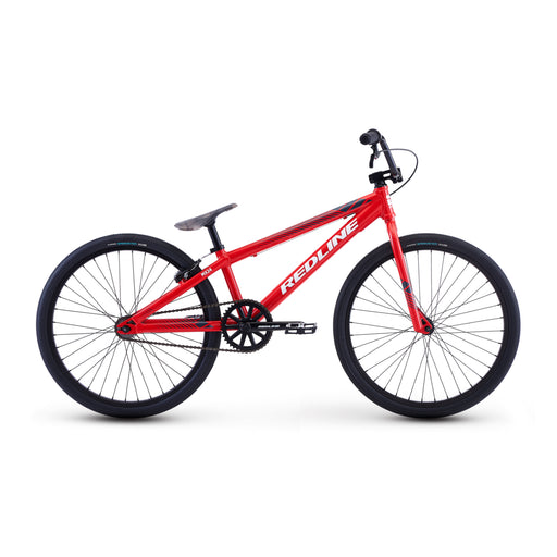 "Redline MX 24 Cruiser 24"" BMX Race Bike-Bright Red Gloss"