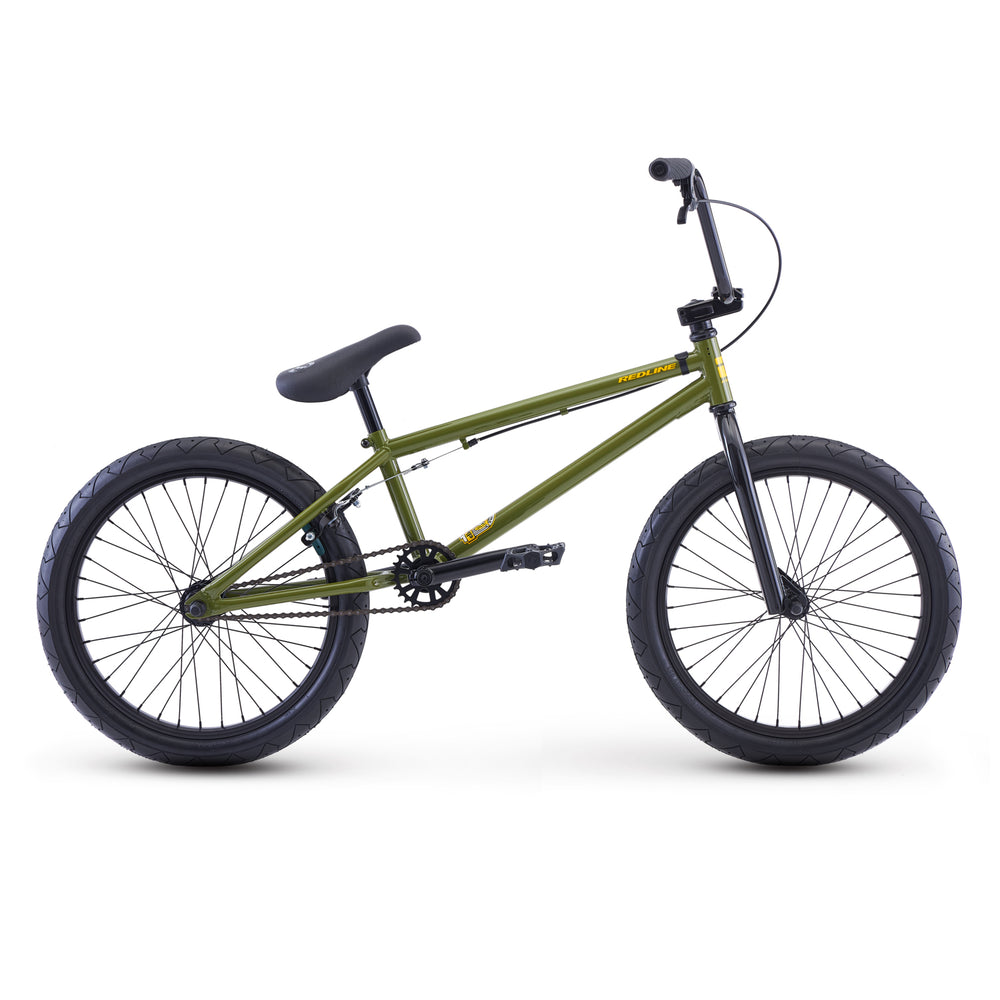 "Redline Romp 20.4""TT BMX Freestyle Bike-Olive Green"