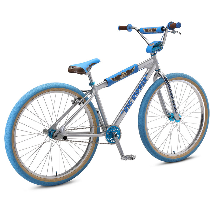 "SE Big Ripper 29"" BMX Freestyle Bike-Ball Burnished Silver"