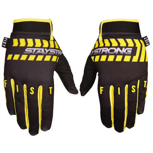 Stay Strong x Fist Chevron BMX Race Gloves-Black