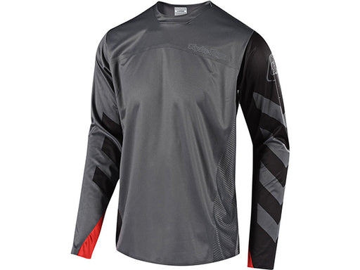 Troy Lee Designs Sprint Elite Escape Long Sleeves Jersey-Gray/Black 3/4 View