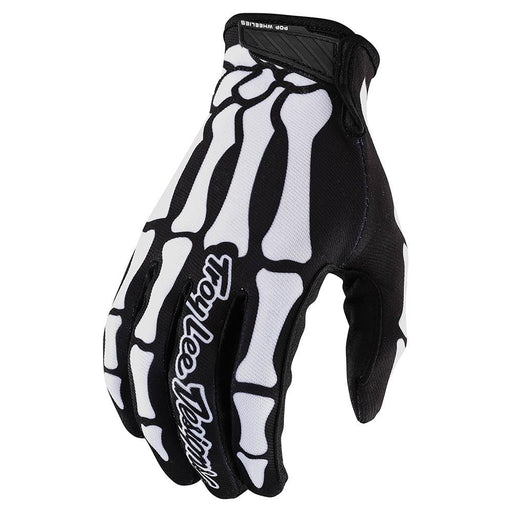 Troy Lee Air Glove Skully-Black/White