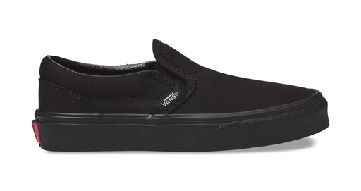 Vans Classic Slip-On Kids Shoe-Black/Black