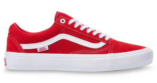 Vans Old Skool Pro Suede Shoe-Red/White