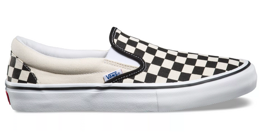 Vans Slip-On Pro Shoe-Black/White Checkerboard