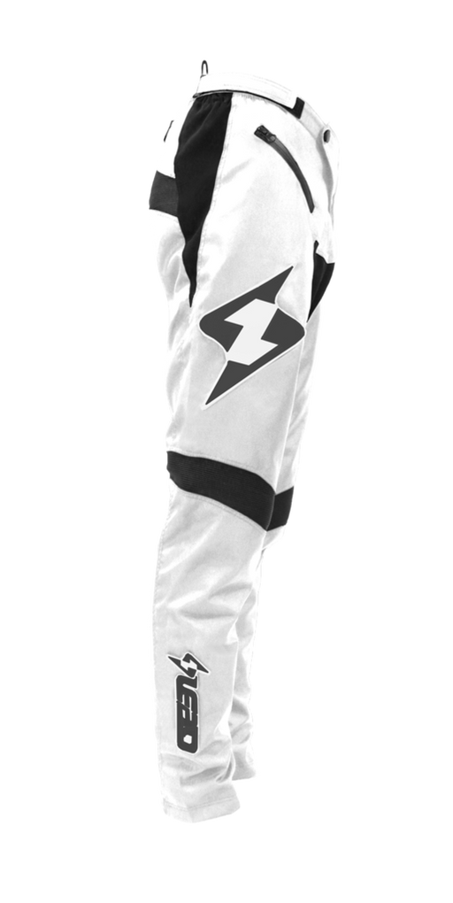 Lead Racing 2019 BMX Coolfit Race Pant-White/Black