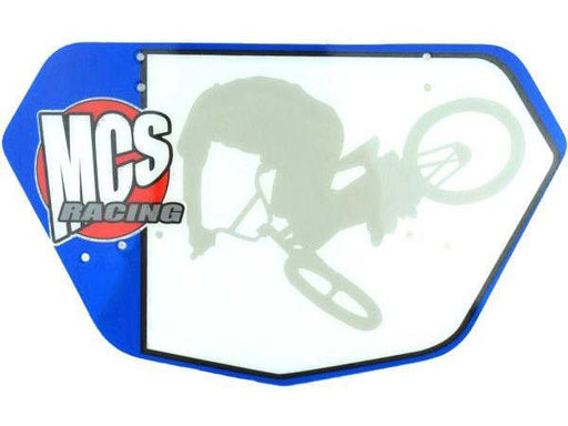 MCS Racing BMX Numberplate Blue