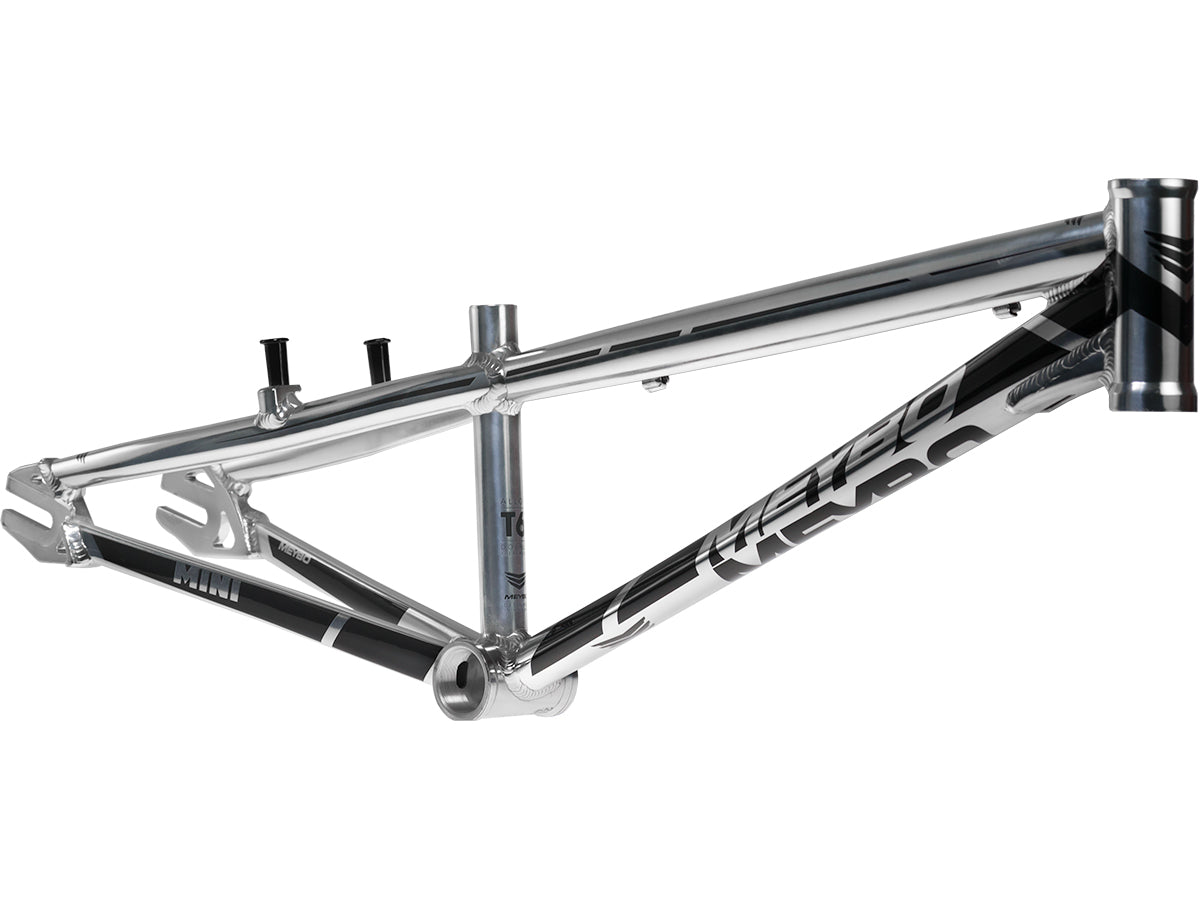 Meybo Holeshot Aluminum BMX Race Frame-Polished/Black Mini