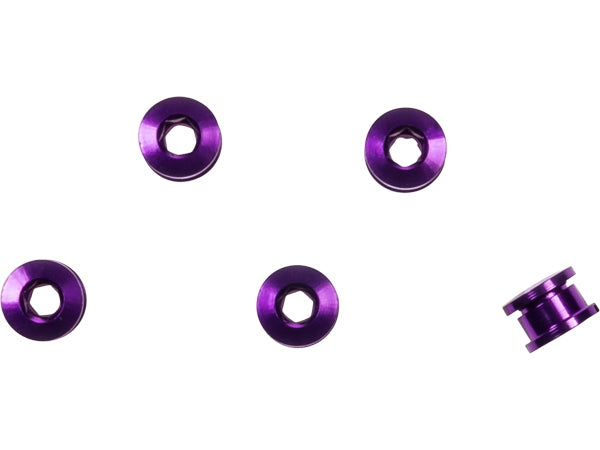 Generic Alloy Chainring Bolts-Purple