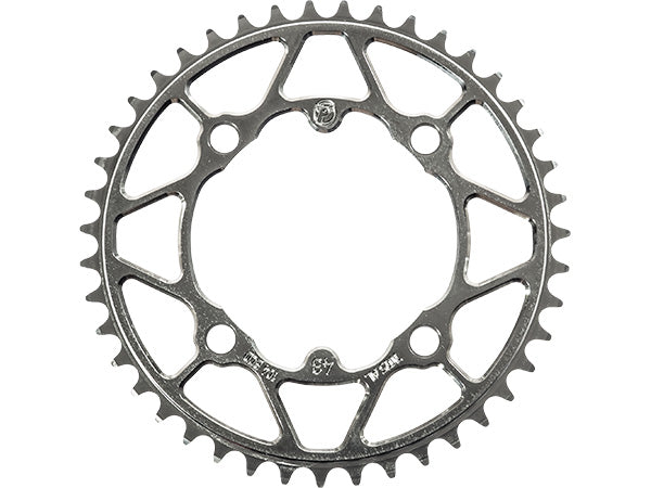 45t Black Profile Racing 4-bolt 104mm Chainring