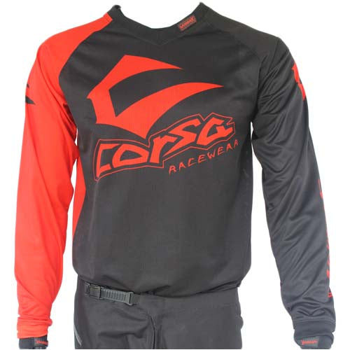 Corsa Warrior X Race Jersey-Black/Red