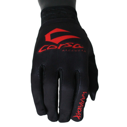 Warrior X Race Glove-Black/Red