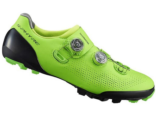Shimano 2019 S-Phyre SH-XC901 Clipless Shoes-Green Side View