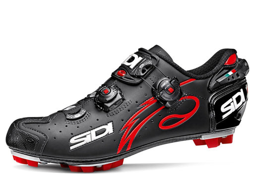 Sidi Drako Clipless Shoes - Matte Black/Red