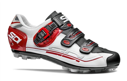 Sidi Dominator 7 Clipless Shoes - White/Black/Red